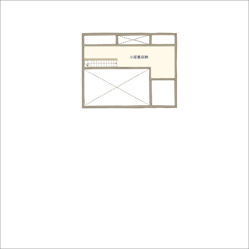 小屋裏平面図
